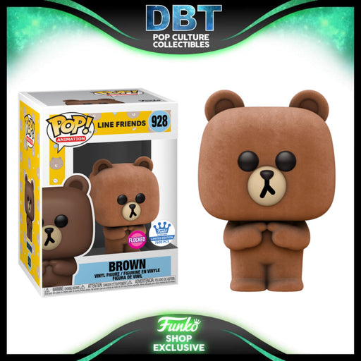 Line Friends: Flocked Brown Funko-Shop Exclusive Funko Pop LE7500