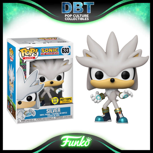 Sonic The Hedgehog: GITD Silver Hot Topic Exclusive Funko Pop