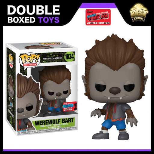 The Simpsons: Treehouse of Horror Werewolf Bart NYCC 2020 Exclusive Funko Pop