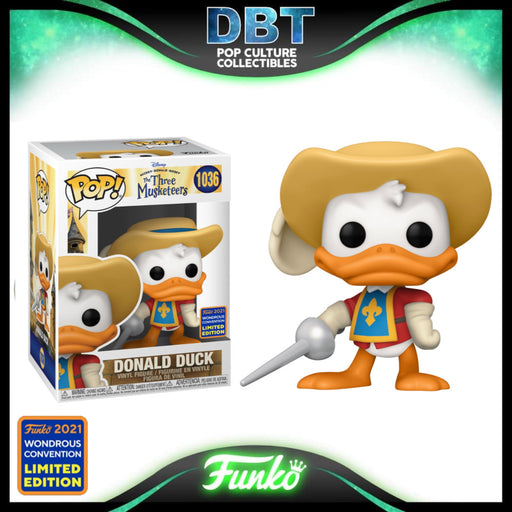 Disney The Three Musketeers: Donald Duck Wonderous Convention 2021 Exclusive Funko Pop