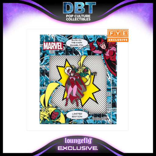 Marvel Loungefly: Scarlet Witch & Vision Limited Edition Glow in the Dark Enamel Pin With Collector Box - FYE Exclusive LE600