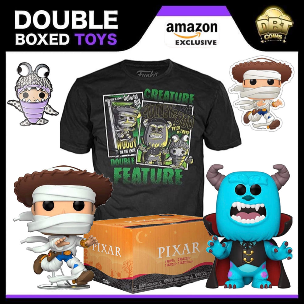 Funko Pixar Halloween Collectors Box with 2 Pop! Vinyl Figures - Amazon Exclusive Collectors Box