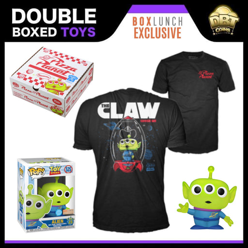 Disney Pixar Toy Story: Alien (Translucent Glitter) Funko Pop & Tee Exclusive Pizza Planet Collectors Box