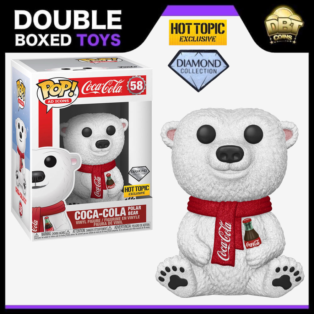 Ad Icons: Coca Cola Polar Bear (Diamond Collection) Hot Topic Exclusive Funko Pop