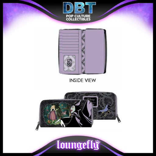 Disney Loungefly: Villains Scene Maleficent Sleeping Beauty Zip Around Wallet