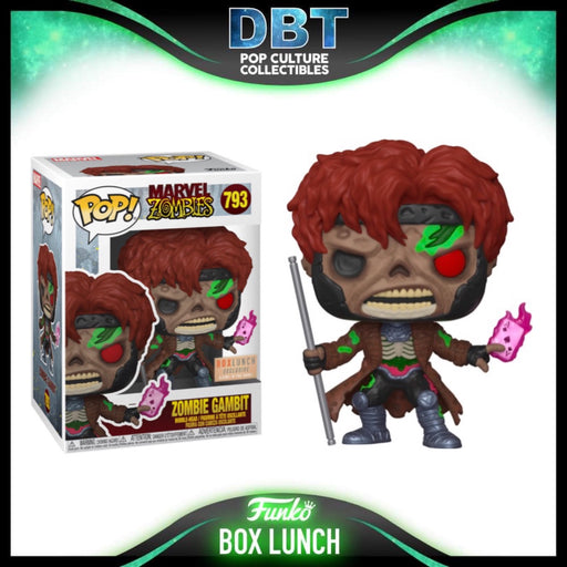 Marvel Zombies: GITD Gambit Box Lunch Exclusive Funko Pop