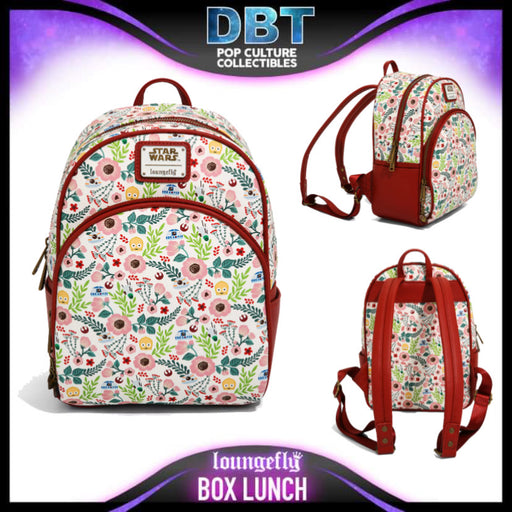 Loungefly Star Wars Droids Floral Mini Backpack - BoxLunch Exclusive