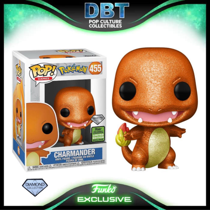 Pokemon: Charmander Diamond Collection ECCC 2021 Exclusive Funko Pop