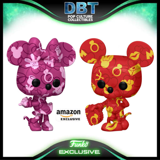 Disney: Artist Series Mickey & Minnie Mouse 2-Pack Amazon Exclusive Funko Pop