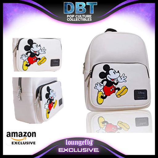 Loungefly x Disney Mickey Chenille Backpack Standard- Amazon Exclusive