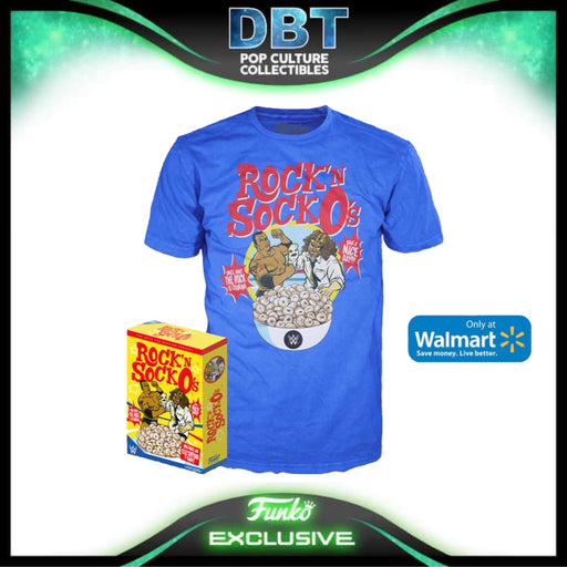 WWE: Rock and Sock Connection Walmart Exclusive Boxed Funko Pop Tee