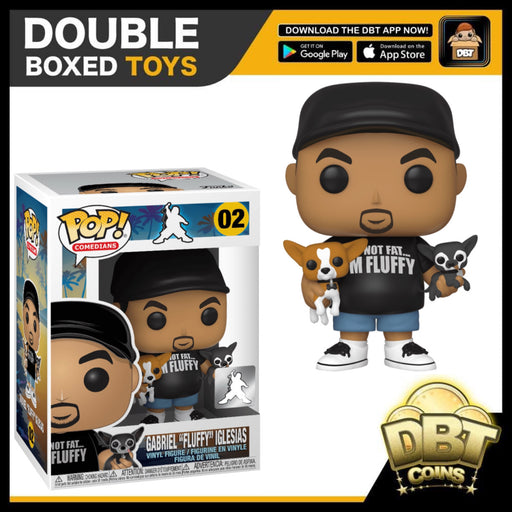 "Comedians: Gabriel ""Fluffy"" Iglesias with Dogs Exclusive Funko Pop"