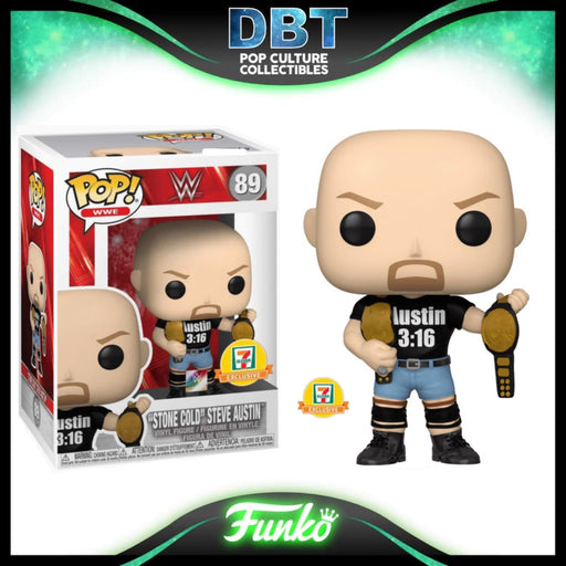 WWE: Metallic Stone Cold Steve Austin (Two Belts) 7-11 Exclusive Funko Pop