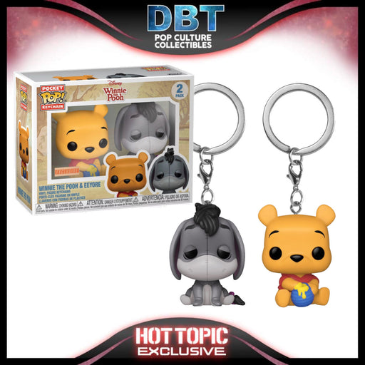Disney: Winnie The Pooh & Eeyore 2-Pack Hot Topic Exclusive Funko Pop Keychains