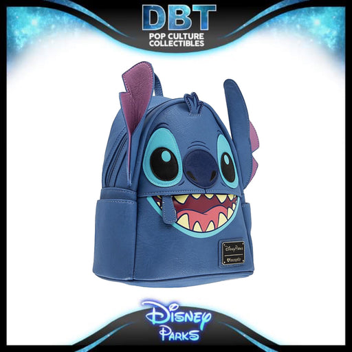 Disney Loungefly - Stitch Faux Leather Mini Backpack - Disney Parks Exclusive