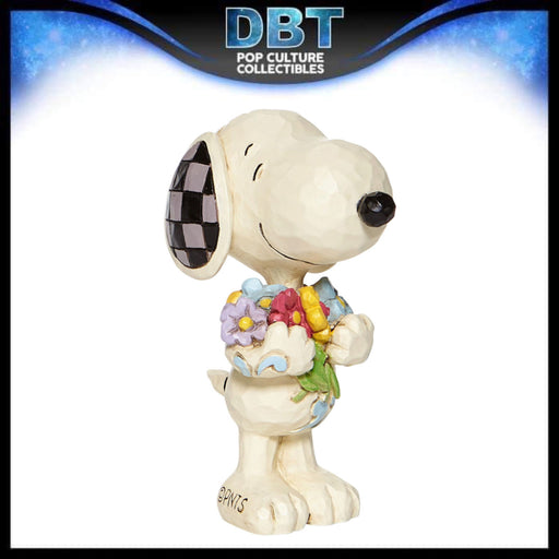 "Jim Shore Peanuts: Snoopy With Flowers 3"" Mini Figurine"