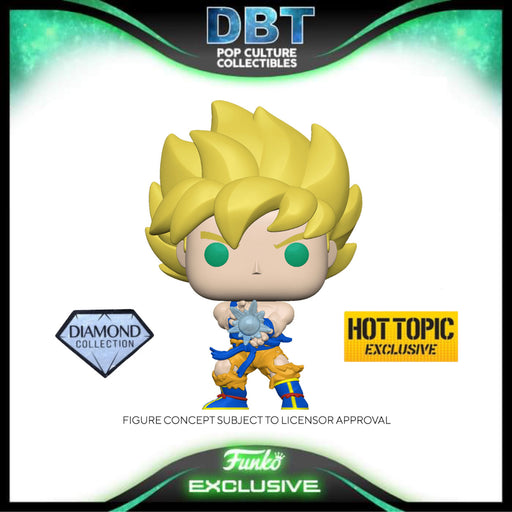 Dragon Ball: Super Saiyan Goku w/Kamehameha (Diamond) Hot Topic Exclusive Funko Pop