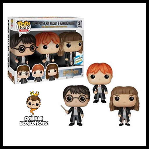 Harry Potter: Harry, Ron & Hermione 3-Pk Exclusive (Box Damage)