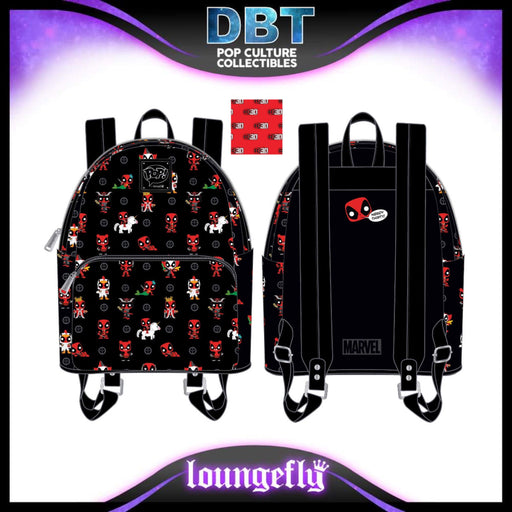 Marvel Pop Loungefly: Deadpool 30th Anniversary AOP Mini Backpack