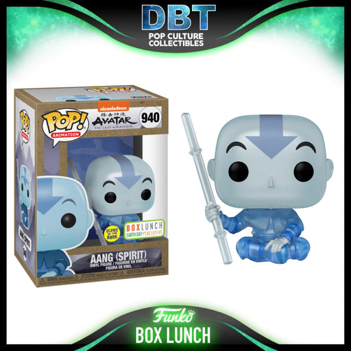 Avatar The Last Airbender: GITD Aang (Spirit) Earth Day Box Lunch Exclusive Funko Pop