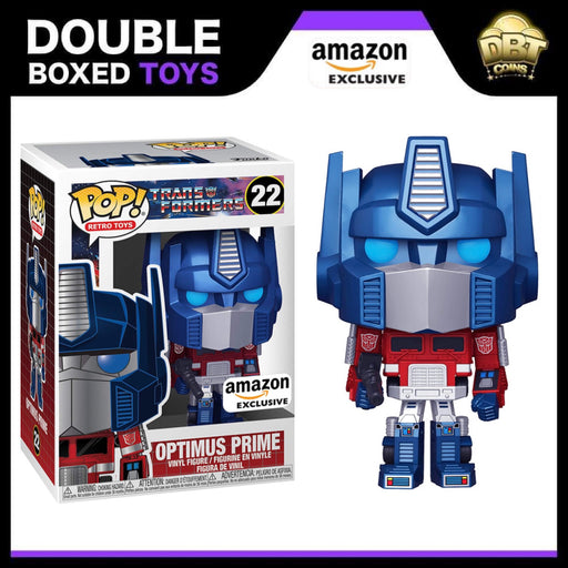 Retro Toys: Transformers - Optimus Prime (Metallic) Amazon Exclusive Funko Pop