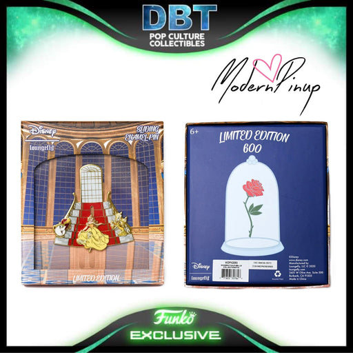 Disney Loungefly - Beauty and the Beast Belle Collector Box Enamel Pin LE600 - Modern Pinup Exclusive