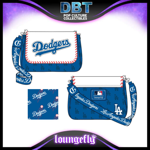 Major League Baseball Loungefly: Los Angeles Dodgers Baseball Seam Stitch Crossbody Bag