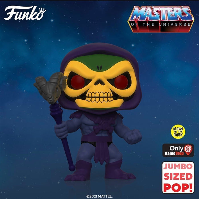 Masters of the Universe: GITD Skeletor GameStop Exclusive Jumbo Funko Pop