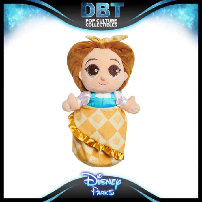 Disney Babies Belle Plush Doll in Pouch – Beauty and the Beast – Small – 12''