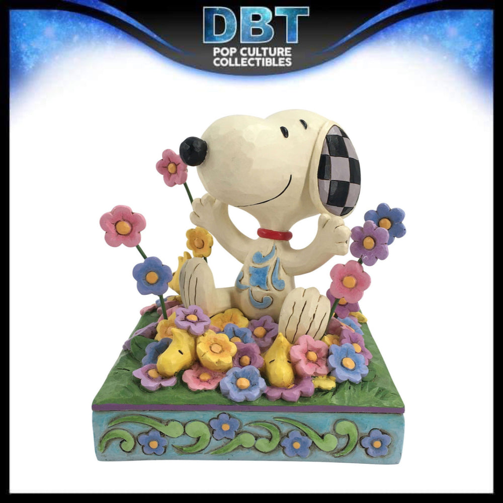 "Jim Shore Peanuts: Snoopy in Flowers 4.75"" Figurine"
