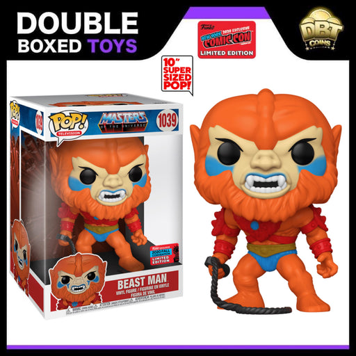 "Masters of the Universe: 10"" Beast Man NYCC 2020 Exclusive Funko Pop"