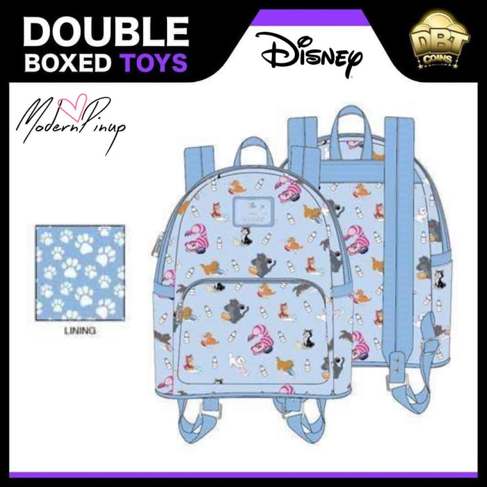 Disney Loungefly - Disney Cats Mini Backpack - Modern Pinup Exclusive