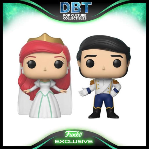 Disney The Little Mermaid: Ariel & Eric 2-Pk Disney Treasures Exclusive Funko Pop