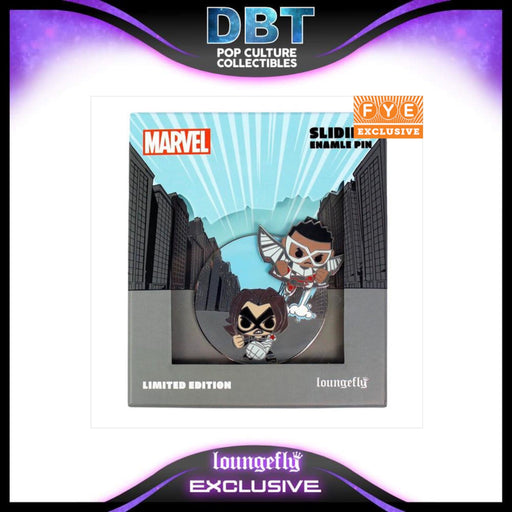 Marvel Loungefly: Falcon & The Winter Soldier Limited Edition Collector Box Sliding Enamel Pin - FYE Exclusive LE600