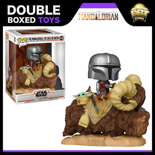 Star Wars The Mandalorian: The Mandalorian and The Child on Bantha Funko Pop