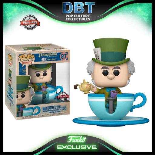 Disneyland 65th: Mad Hatter At The Mad Tea Party Attraction Exclusive Funko Pop Ride
