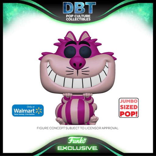 Disney Alice In Wonderland 70th: Cheshire Cat Walmart Exclusive Jumbo Funko Pop