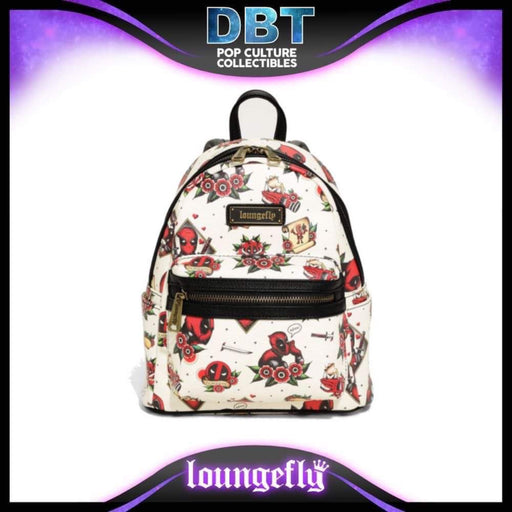Marvel Loungefly: Deadpool Tattoo Mini Backpack - Exclusive