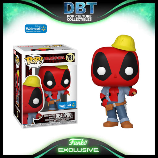 Marvel Deadpool: Construction Worker Deadpool Walmart Exclusive Funko Pop