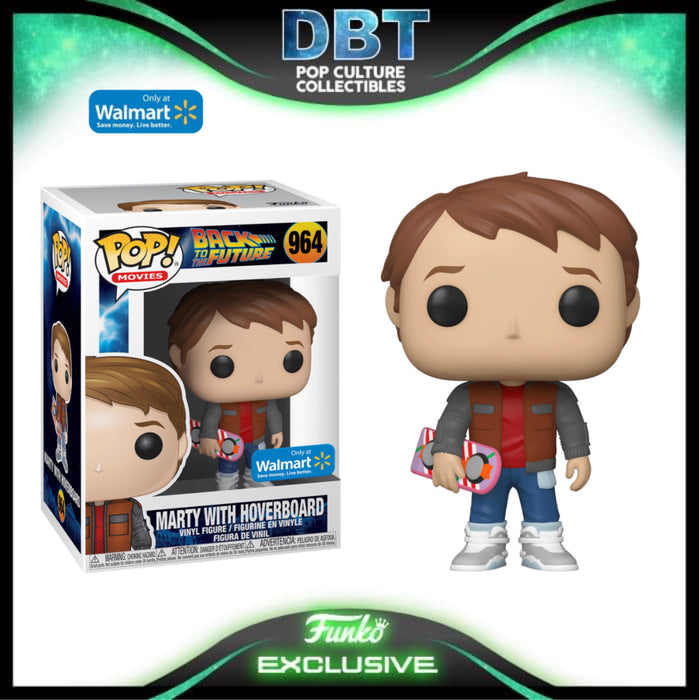 Back To The Future: Marty McFly with Hoverboard Walmart Exclusive Funko Pop