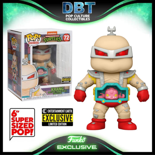 "TMNT: 6"" Krang Entertainment Earth Exclusive Funko Pop"