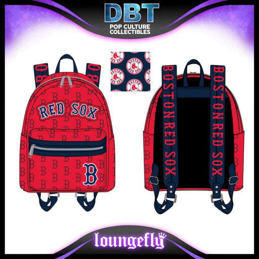 Major League Baseball Loungefly: Boston Red Sox Mini Backpack