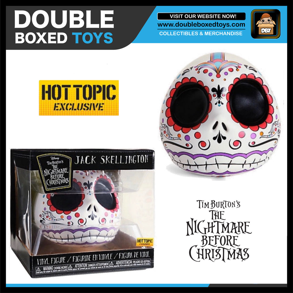 Disney NBC: Jack Skellington Sugar Skull Hot Topic Exclusive Vinyl Figure
