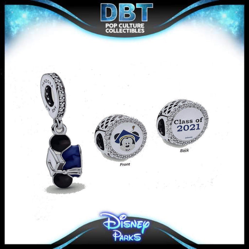 Disney Pandora - Graduation 2021 2-Piece Charm Set - Disney Parks Exclusive