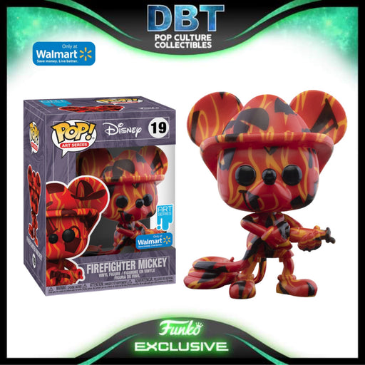 Disney Art Series: Firefighter Mickey Mouse Walmart Exclusive Funko Pop