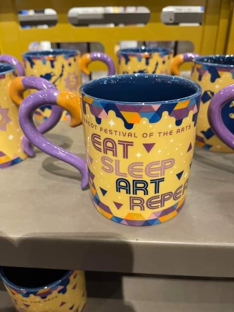 Eat Sleep Art Repeat Figment Mug - International Festival Of Art - EPCOT