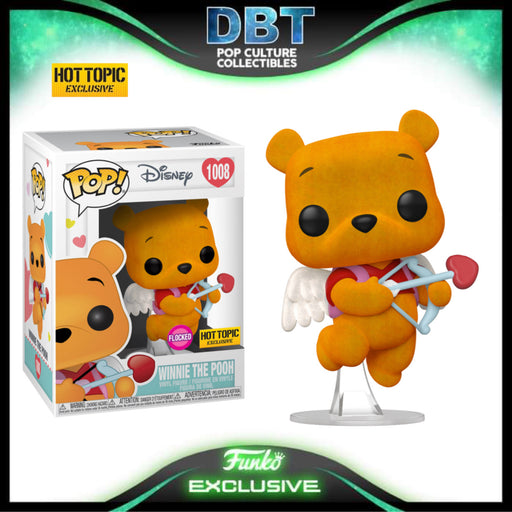Disney: Flocked Winnie The Pooh Cupid Hot Topic Exclusive Funko Pop