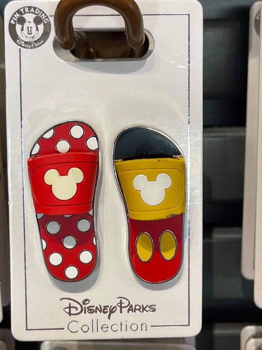 Disney Parks 'Pin Trader' Mickey and Minnie Sandals Pin