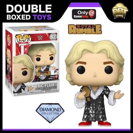 WWE: Ric Flair (Royal Rumble 1992) Diamond Collection GameStop Exclusive Funko Pop & Pin Set