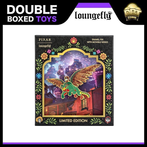 Disney Loungefly - Pixar Coco Collectors Box Enamel Pin with Moveable Wings LE2500